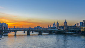 St Paul's Cathedral at sunset Royalty Free Stock Image