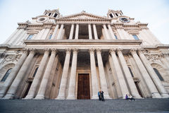 St Paul's Cathedral at sunset Royalty Free Stock Photo