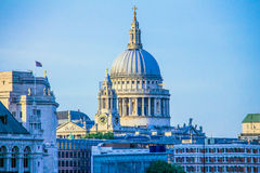 St Paul's Cathedral at sunset time. London Stock Photos