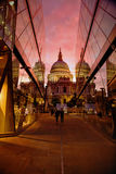 St. Paul's Cathedral at Sunset stock photo