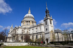 St. Paul's Cathedral and the Tower of the Former St. Augustine C Royalty Free Stock Photos