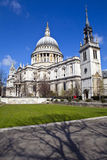 St. Paul's Cathedral and the Tower of St. Augustine Church in Lo Royalty Free Stock Images
