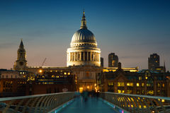 St. Paul's cathedral at twilight Royalty Free Stock Image
