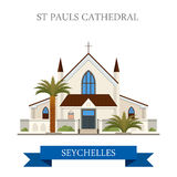 St Paul's Cathedral Victoria Seychelles Flat histo Stock Image