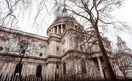 St Paul`s Cathedral. A view of St Paul`s cathedral in the city of London, England Royalty Free Stock Image