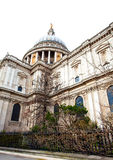 St Paul`s Cathedral. A view of the famous dome of St Paul`s cathedral in the city of London Royalty Free Stock Photography