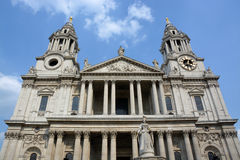 St Paul's Cathedral Western Side & Entrance View, London Royalty Free Stock Photos