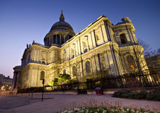 St. Paul's cathedral - wide angle Royalty Free Stock Photography