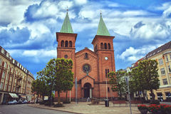 St. Paul`s Church, Aarhus Stock Photo