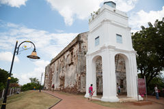 St.Paul's church in Malacca Stock Photo