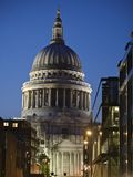 St Paul's Church at Night Royalty Free Stock Photos