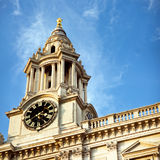 St Paul's clock, London. royalty free stock photo