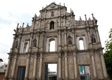 St. Paul?s de Kerk ruïneert Macao Royalty-vrije Stock Afbeeldingen