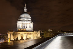 St Paul's Dome By Night Stock Images