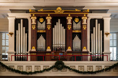 St. Paul's Episcopal Church organ Royalty Free Stock Photo