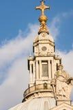 St Paul ' s-Kathedralenspitze der Haupthaube Stockbild
