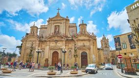 St- Paul` s Kirche in Rabat, Malta stock footage