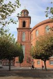 St Paul ` s Kościelny Frankfurt magistrala - Am - zdjęcia stock