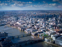 St Paul's London Bridge. London skyline st paul's cathedral and london bridge Stock Photography