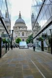 St. Paul's, London, UK - August 3, 2017: Looking at St. Paul's Cathedral royalty free stock photos