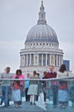St Paul's and Millennium bridge in London Stock Photo