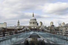 St Paul's and Millennium Bridge, London Stock Photos