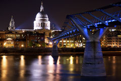 St Paul's at Night Stock Image