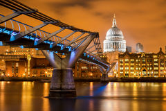 St Paul's Orange Night Stock Photo