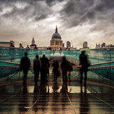 St Paul's in the rain Royalty Free Stock Photo