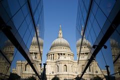 St Paul's Reflected Royalty Free Stock Image