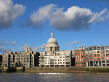 St Paul's from the River Thames Stock Photos