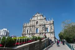 St Paul s Ruïnes in Macao Stock Foto's