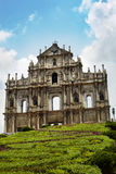 St Paul's Ruins, iconic church in Macau, Chin. Ruins of St Paul Church, iconic portugese landmark of Macau, South China - Asia's greatest monument to Royalty Free Stock Photos