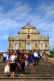 St Paul s Ruins, iconic church in Macau, China Stock Photo