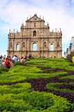 St Paul s Ruins, iconic church in Macau, China Royalty Free Stock Image