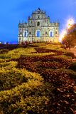 St Paul s Ruins, iconic church in Macau, China Royalty Free Stock Photo