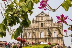 St Paul s ruiny w Macau Obraz Royalty Free