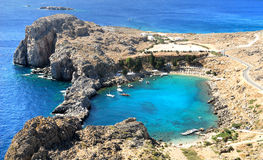 St.Paul Schacht. Rhodos. Griechenland lizenzfreie stockfotos