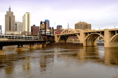St. Paul Skyline. A picture of the city of St. Paul skyline from across the river Stock Photos