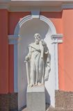 St Paul statue of Cross Exaltation cathedral in St Petersburg Royalty Free Stock Photography