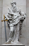 St. Paul statue at Salzburg Cathedral, Austria. Stock Photography