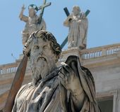 St. Paul statue in Vatican Royalty Free Stock Photo