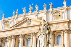 St. Paul Statue in Vatican City, Italy Stock Images