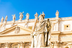 St. Paul Statue in Vatican City, Italy Royalty Free Stock Photo