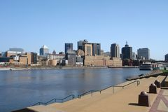 St. Paul View. A picture of the St. Paul skyline in the state of Minnesota Royalty Free Stock Photos