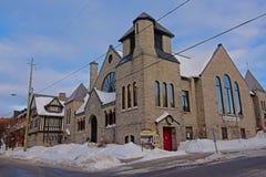 St Paul wschodni zlany kościół, Ottawa zdjęcia royalty free