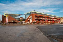 St Pauli arena w Hamburskim Niemcy obrazy stock