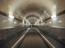 St Pauli Elbtunnel (St Pauli Elbe Tunnel) en Hamburgo fotos de archivo libres de regalías