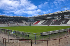 St Pauli Football ground. A view across the playing surface of St Pauli FC in Hamburg Germany Royalty Free Stock Photo