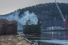 St.Pauli at the Halden harbor Royalty Free Stock Image
